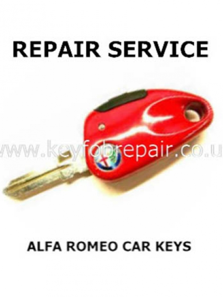 Alfa Romeo Single Button Car Key Repair 146-156-166 Etc