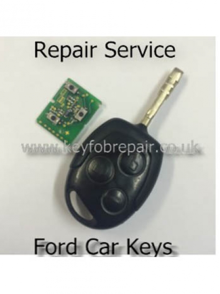 Ford 3 Button Remote Keyfob Repair Service-Focus Fiesta Zetec Fusion Mondeo Transit Etc