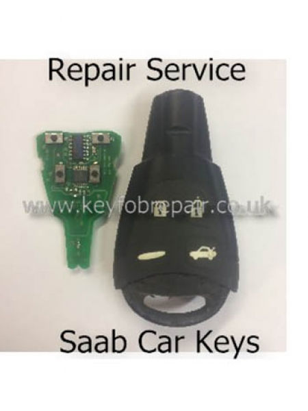 Saab 4 Button Key fob Repair Service 93 Etc