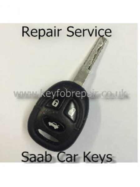 Saab 3 Button Key fob Repair Service 93 95 Etc