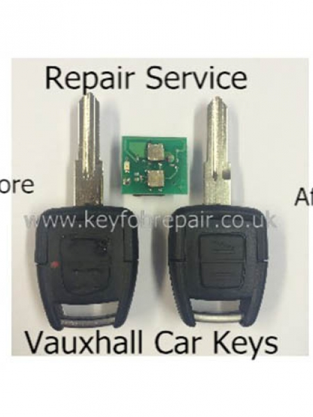 Vauxhall 2 Button Key Fob Repair Including New Case Astra Zafira Vectra Etc