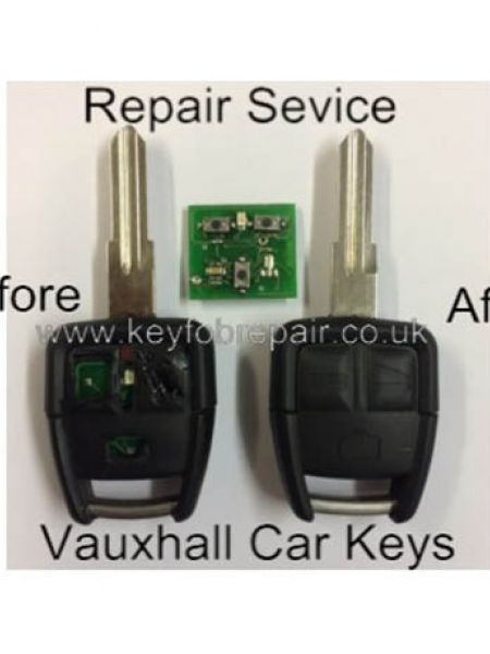 Vauxhall 3 Button Key Fob Repair Including New Case Astra Zafira Vectra Etc
