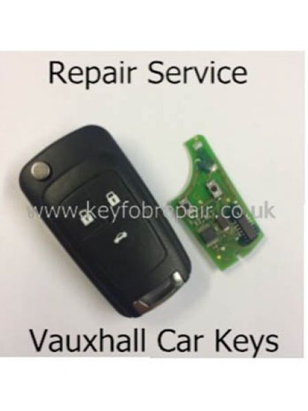 Vauxhall 3 Button Flip Key Fob Repair Including New Case-Astra Zafira Vectra Etc