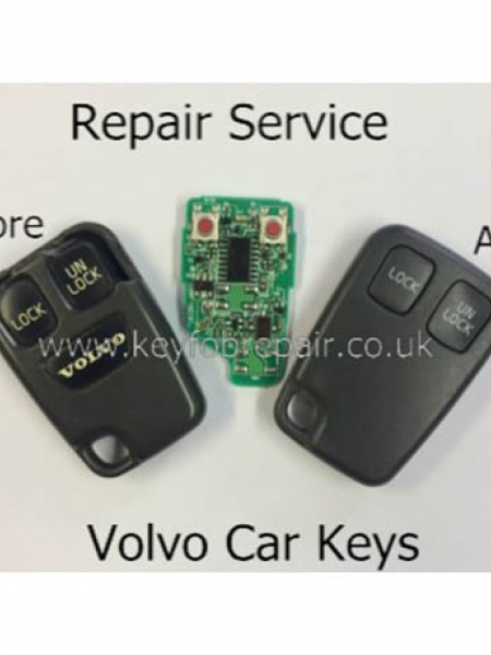 Volvo 2 Button Remote Key fob Repair-S40 V40 S70 C70 V70 Etc