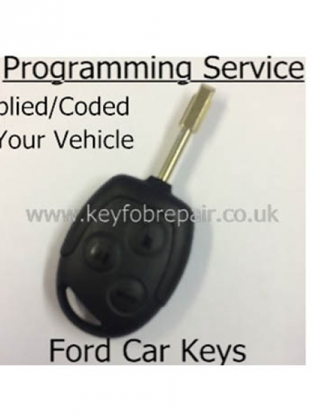 Ford 3 Button Remote Key Supplied And Programmed- Focus Fiesta Mondeo KA Transit Etc