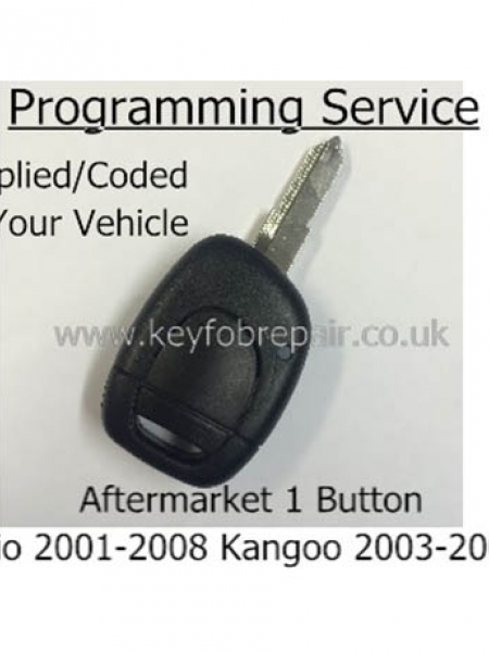 Renault Clio Kangoo Traffic 2002+ 1 Button Aftermarket Remote Key Supplied And Programmed