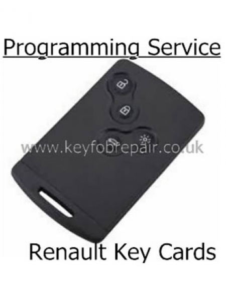 Renault 4 Button Key Card Programming Service
