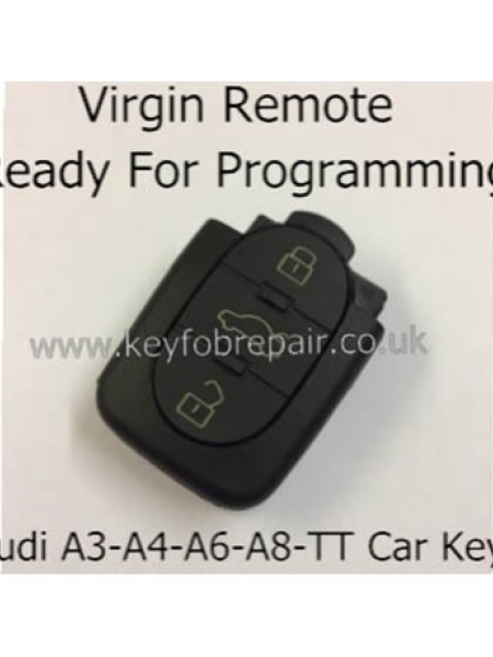 Audi 3 Button Virgin Remote Key Fob-A3 A4 A6 A8 TT