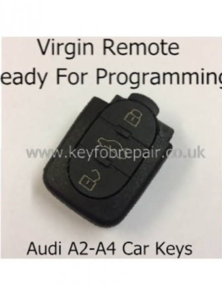 Audi 3 Button Virgin Remote Key Fob-A2 A4
