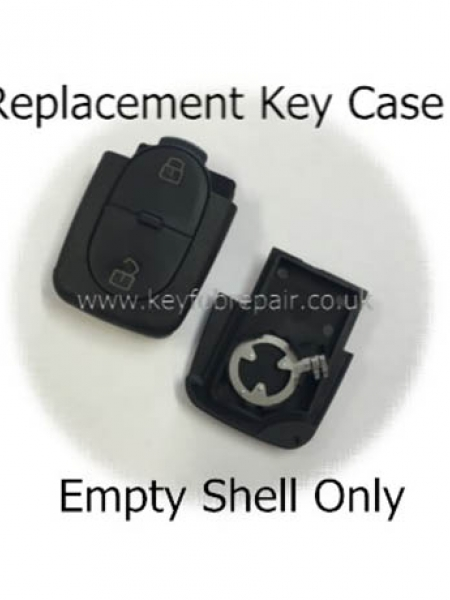 Audi 2 Button Key Case Shell