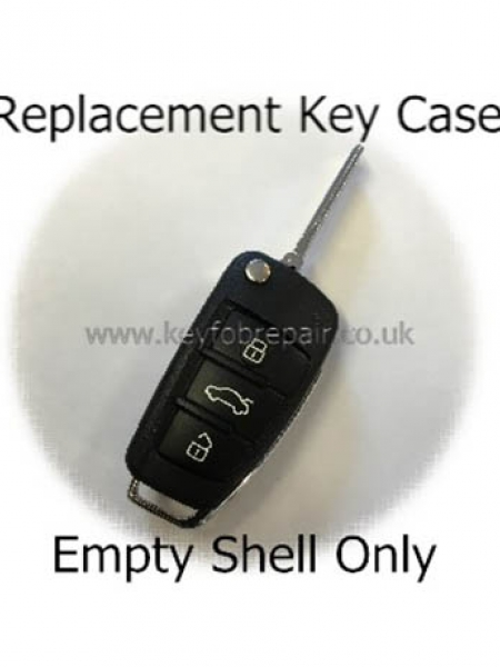 Audi 3 Button Flip Key Case With Blade