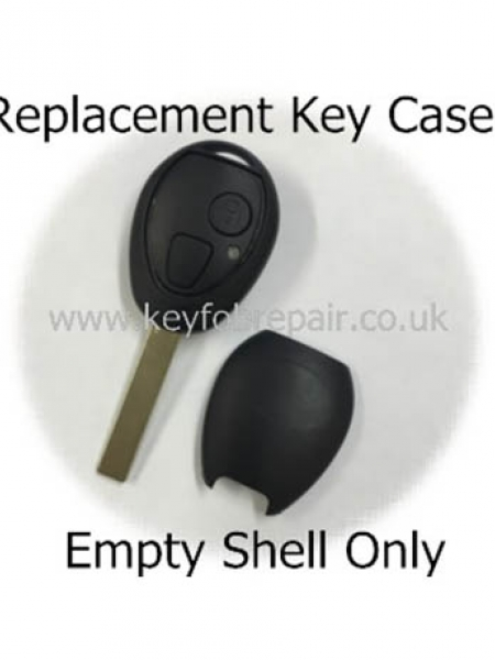 Bmw Rover Mini 2 Button Empty Key Case Shell