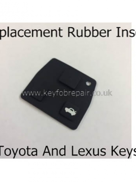 Lexus 3 Button Rubber Insert For IS200 RX300 SC430 Etc