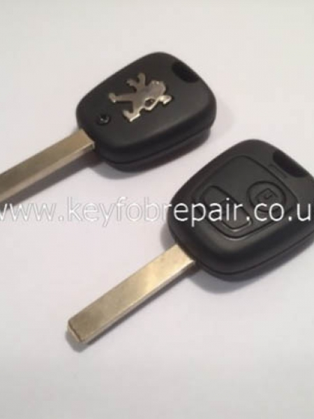 Peugeot 2 Button Key Case With Blank VA2 Keyblade 206-307-406 Etc