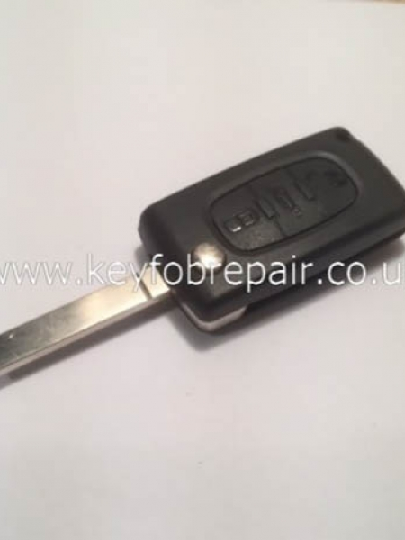 Peugeot Flip Case With Boot Button With Battery Place VA2 Blade (No Groove) Also Fits Citroen
