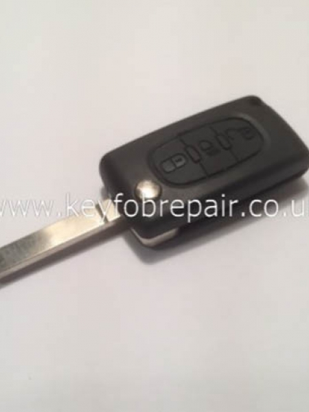 Peugeot Flip Case With Light Button With Battery Place VA2 Blade (No Groove) Also Fits Citroen