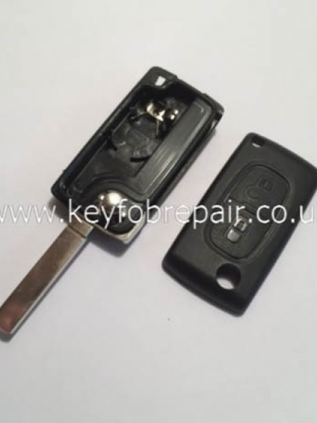 Peugeot 2 Button Flip Case With Battery Place VA2 Blade (No Groove) Also Fits Citroen