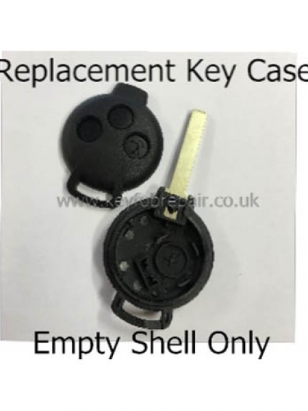 Smart Roadster ForTwo 3 Button Empty Key Case Shell