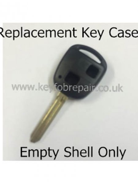 Toyota TOY43 2 Button Key Fob Case-Yaris Celica Rav4 Land Cruiser Etc