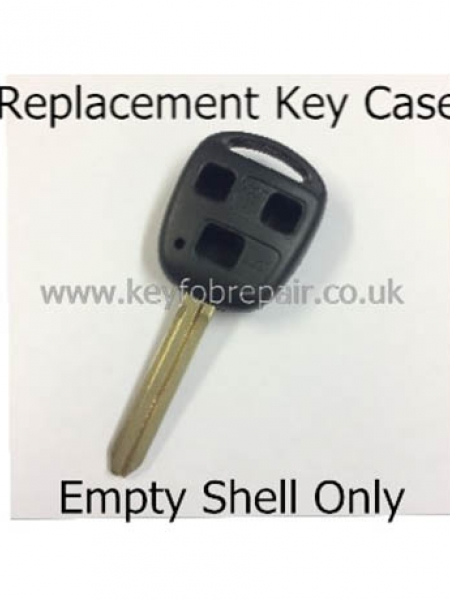 Toyota TOY43 3 Button Key Fob Case-Yaris Celica Rav4 Land Cruiser Etc
