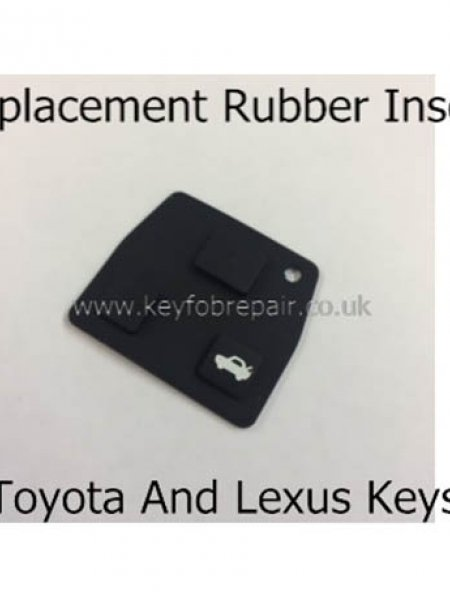 Toyota 3 Button Rubber Insert For Rav4 Avensis Prius Verso Etc