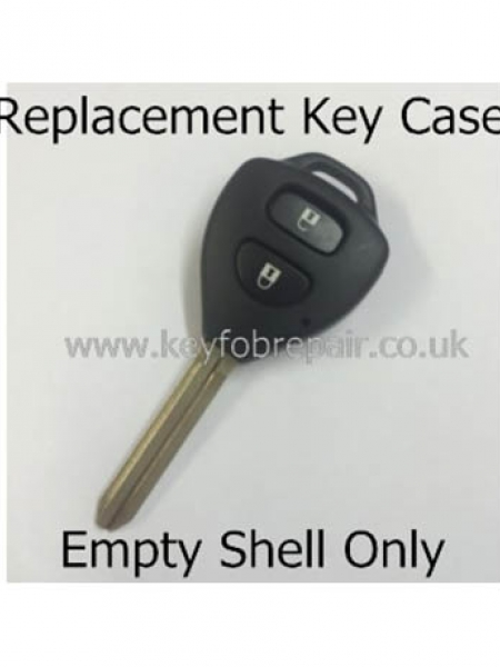 Toyota TOY43 2 Button Triangle Type Key Fob Case- Hilux Yaris Celica Rav4 Land Cruiser Etc