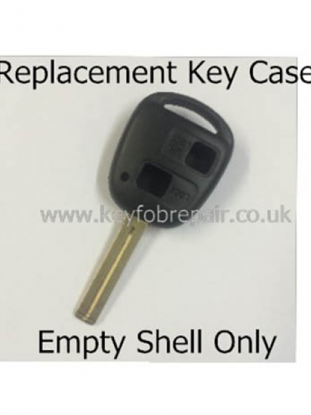 Toyota TOY40 2 Button Key Fob Case- Hilux Yaris Celica Rav4 Land Cruiser Etc