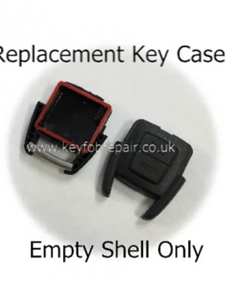 Vauxhall 2 Button Empty Key Case Shell