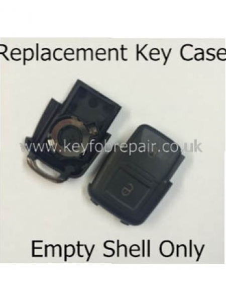 Volkswagen 2 Button Key Fob Case Shell-Golf Polo Sharan Transporter T5 Passat Etc