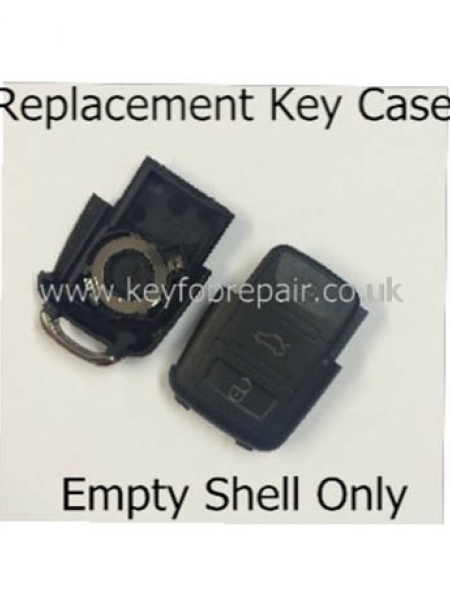 Volkswagen 3 Button Key Fob Case Shell-Golf Polo Sharan Transporter T5 Passat Etc