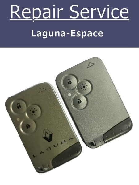 3 Button for Laguna Renault Key Remote Replacement Card Case Shell Case